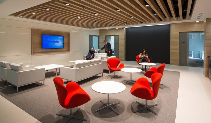 Cat B refurbishment including building appraisal featuring danish design - client waiting area